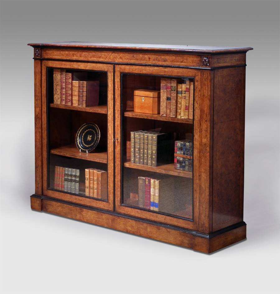 Antique Walnut Side Cabinet, Antique Display Cabinet, Walnut In Most Current Display Sideboards (#1 of 15)