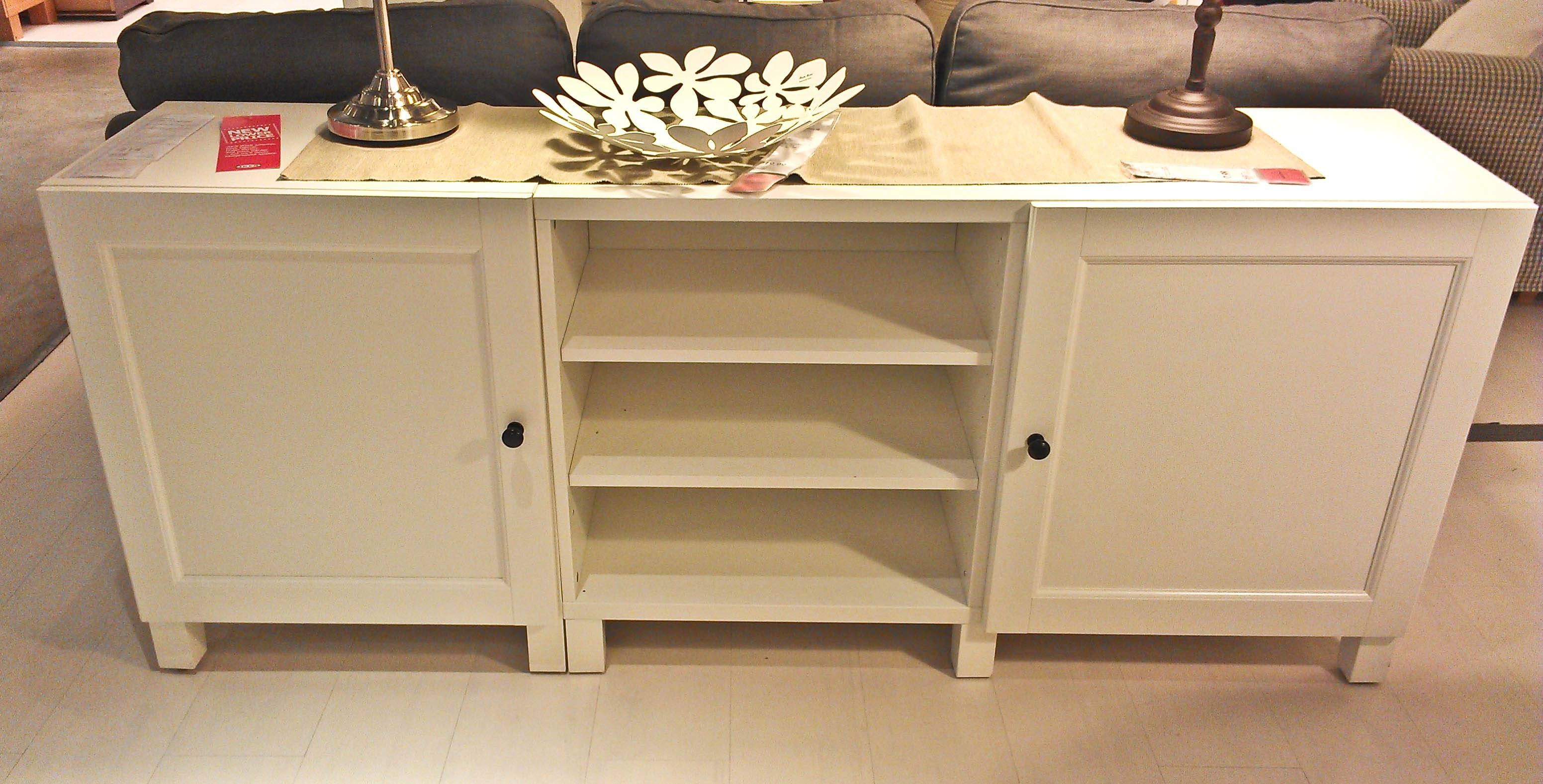 Antique White Buffet Table Dining Room Side Table Buffet White For Best And Newest Slim White Sideboards (#2 of 15)
