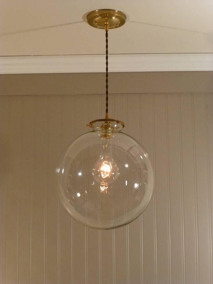Appealing Glass Globe Pendant Light Amazing Of Clear Globe Pendant For Best And Newest Clear Glass Globe Pendant Light Fixtures (#1 of 15)