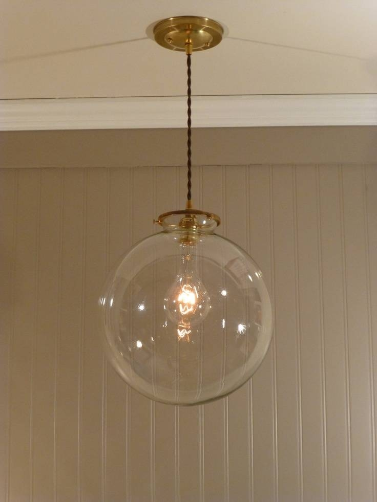 Appealing Glass Globe Pendant Light Amazing Of Clear Globe Pendant With Most Recent Clear Globe Pendant Lights (#2 of 15)