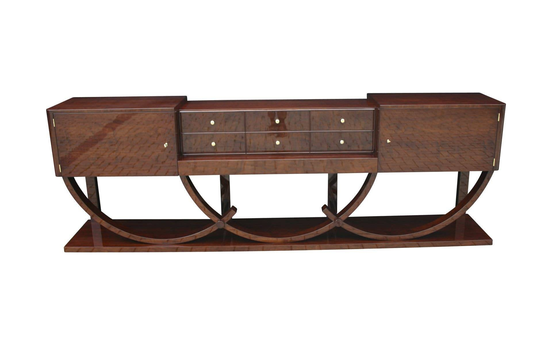 Art Deco Sideboard / Macassar Ebony / Glossy Lacquered Wood With Regard To Most Up To Date Art Deco Sideboards (#2 of 15)