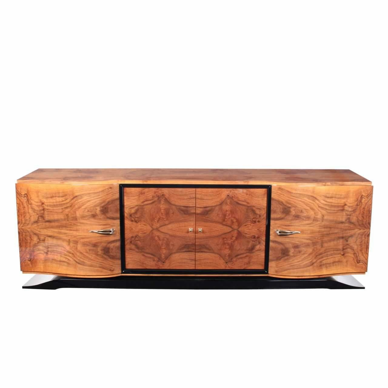 Art Deco Sideboard / Rosewood / Glossy Lacquered Wood – Sb001 Pertaining To Recent Art Deco Sideboards (#3 of 15)