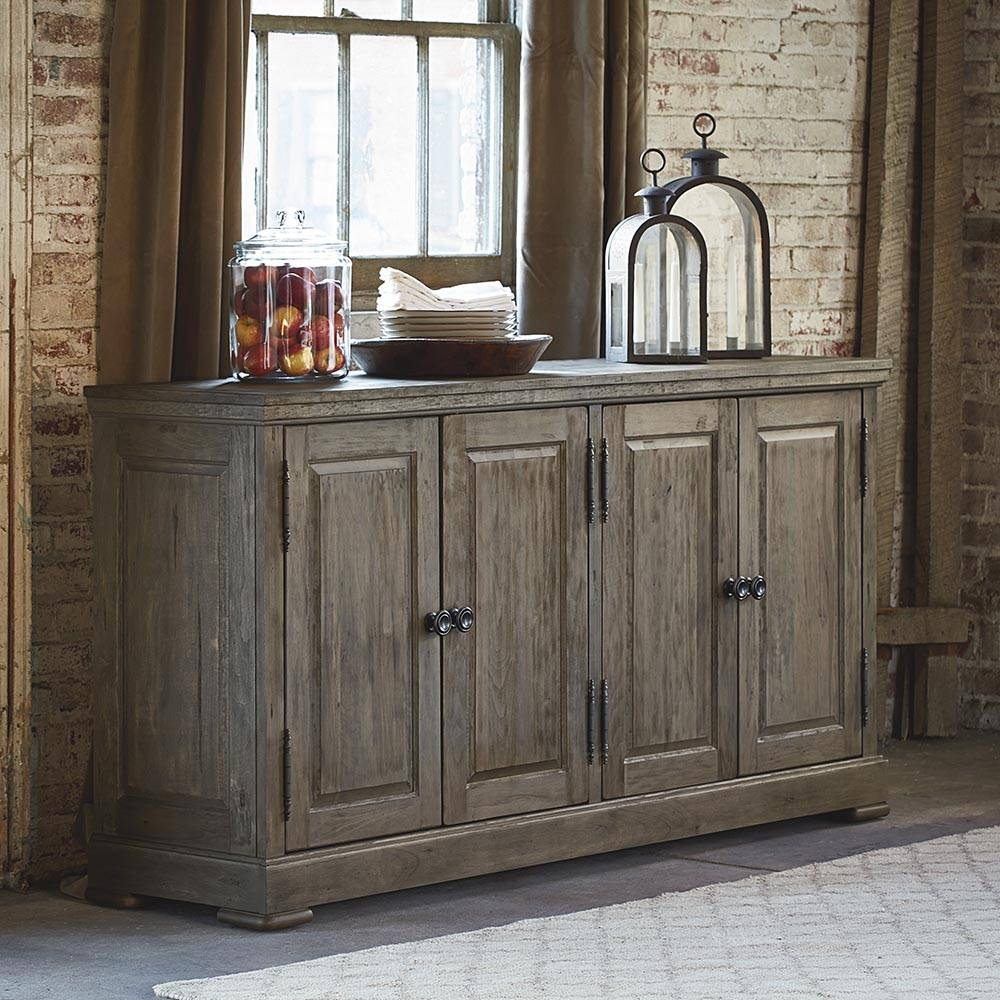 Artisan Dining 4 Door Huntboard   Bassett Home Furnishings For Most Current Sideboard Furniture (#1 of 15)