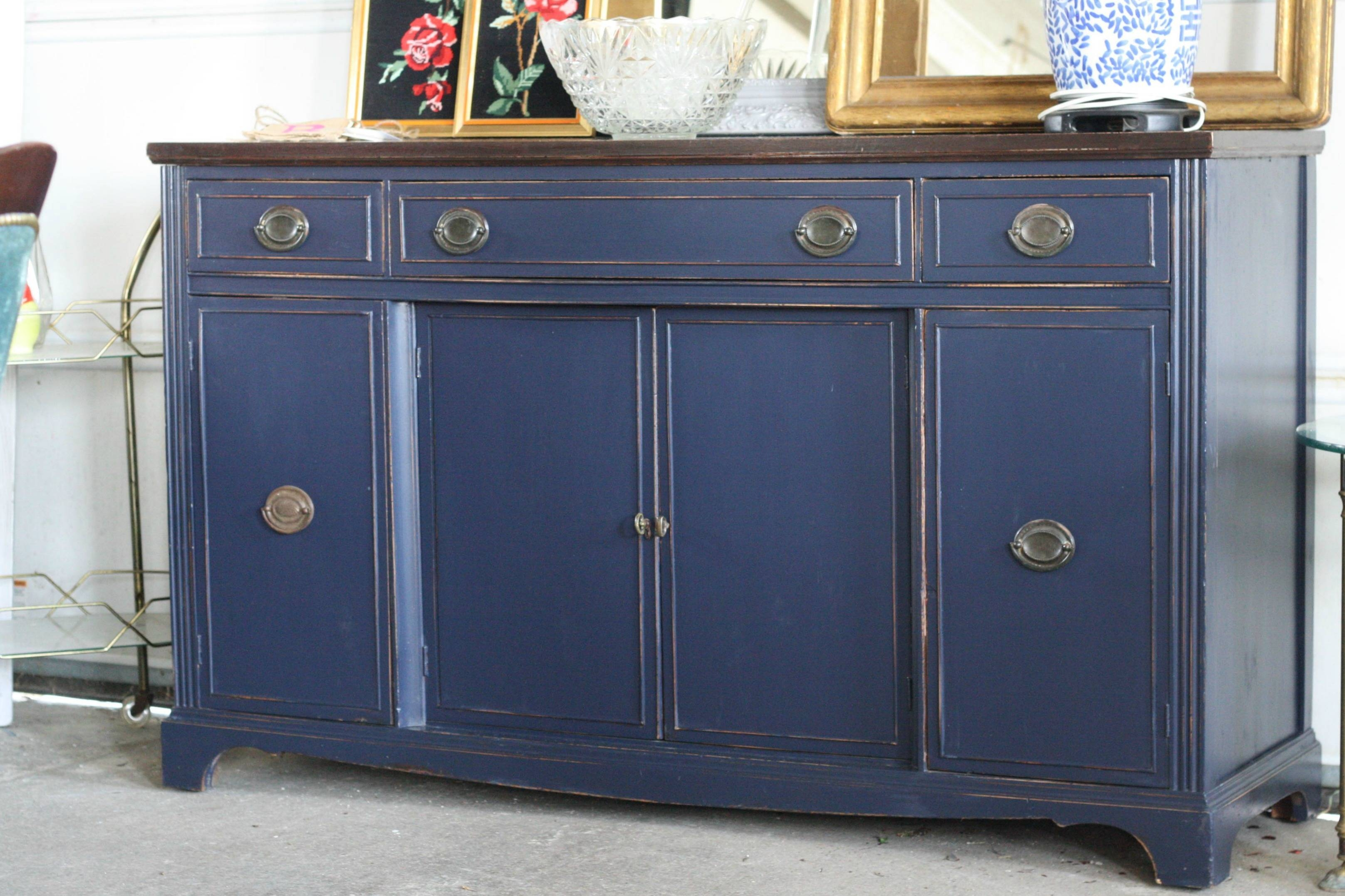 Awesome Blue Sideboard Buffet – Bjdgjy For Current Blue Buffet Sideboards (#2 of 15)