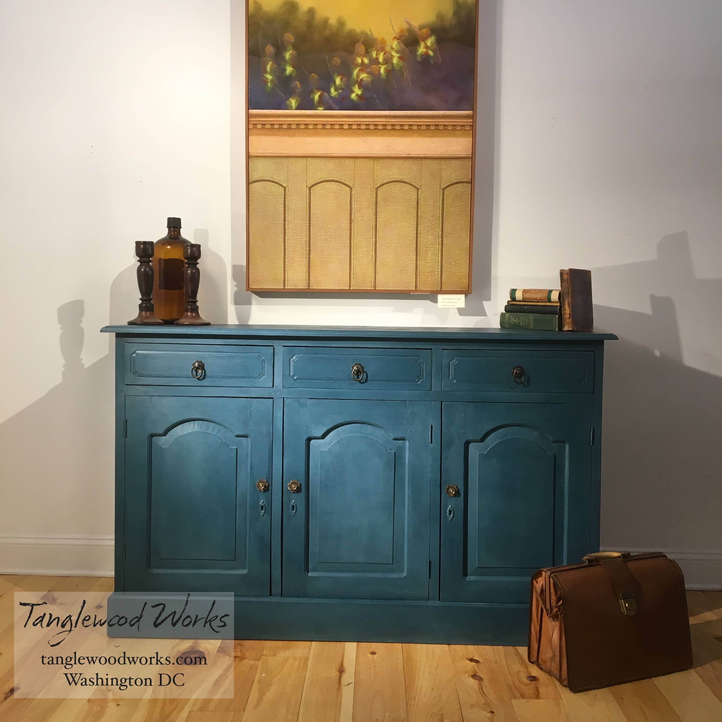 Inspiration about Awesome Blue Sideboard Buffet – Bjdgjy Intended For Newest Credenza Buffet Sideboards (#5 of 15)