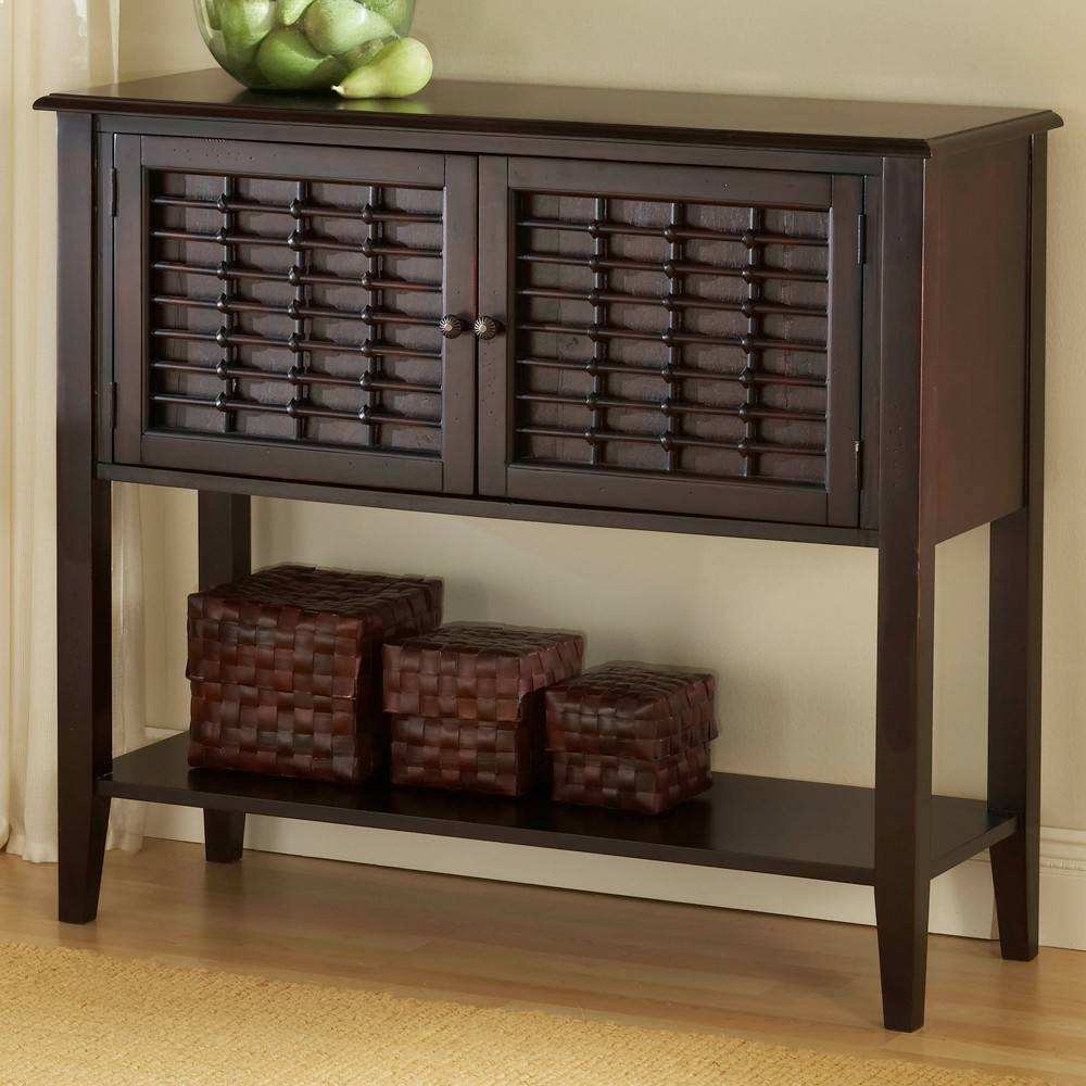 Bayberry Wood Sideboard / Server In Dark Cherry | Humble Abode Inside Best And Newest Server Sideboard Furniture (#4 of 15)