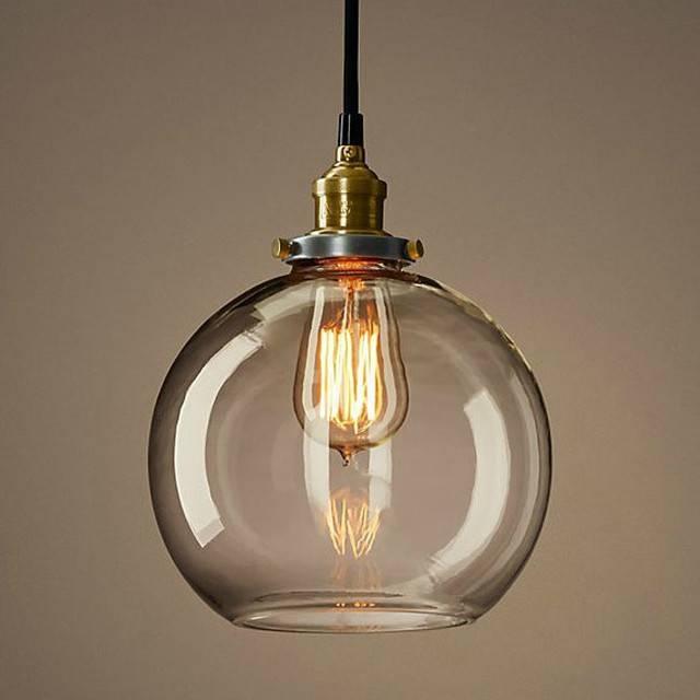 Beautiful Glass Ball Pendant Light For Hall, Kitchen, Bedroom Regarding Recent Glass Ball Pendant Lights (#1 of 15)