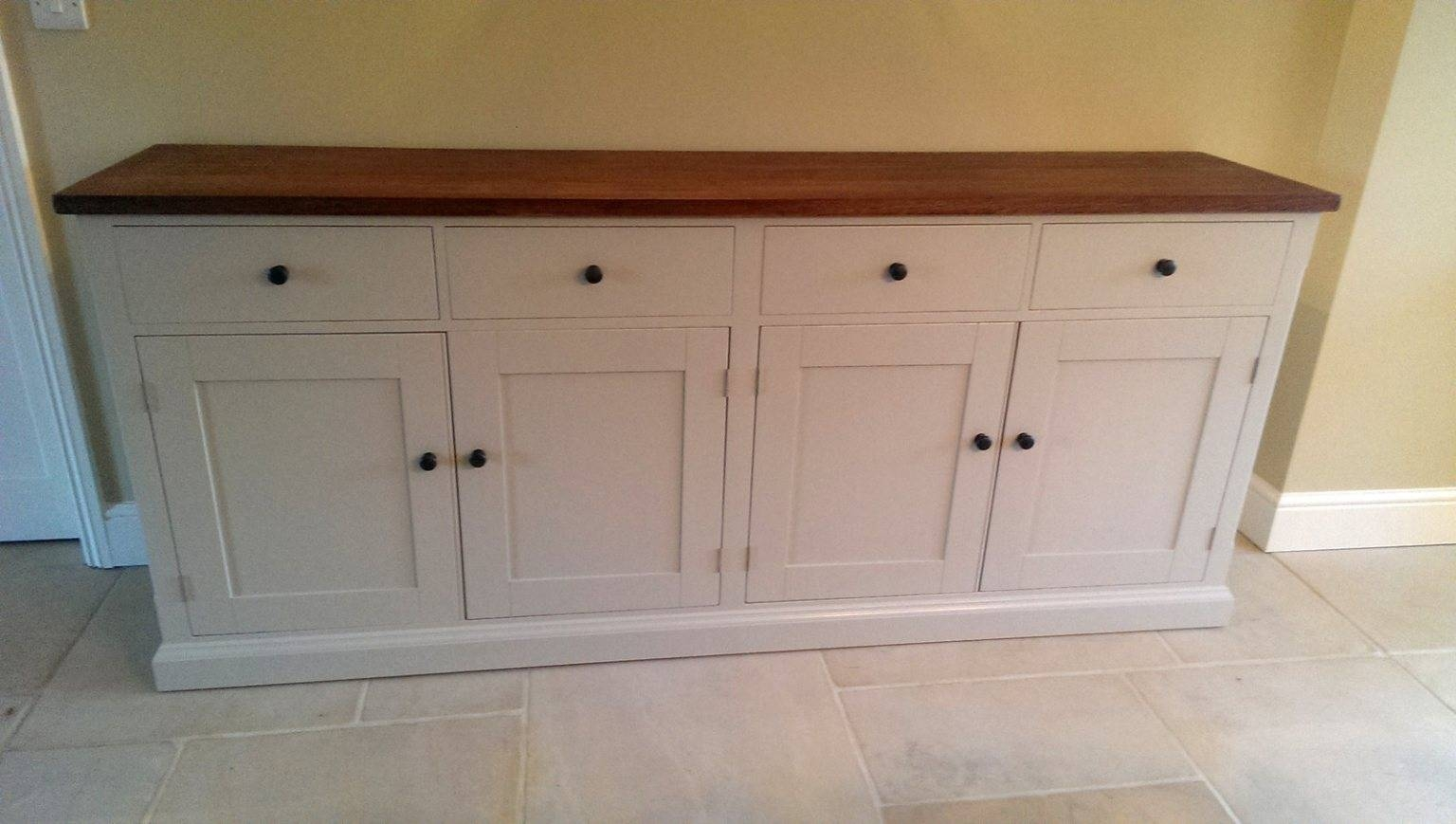 Bespoke Large Painted Sideboard With Oak Top – Solid Wood With Regard To Most Recent Bespoke Sideboards (#3 of 15)