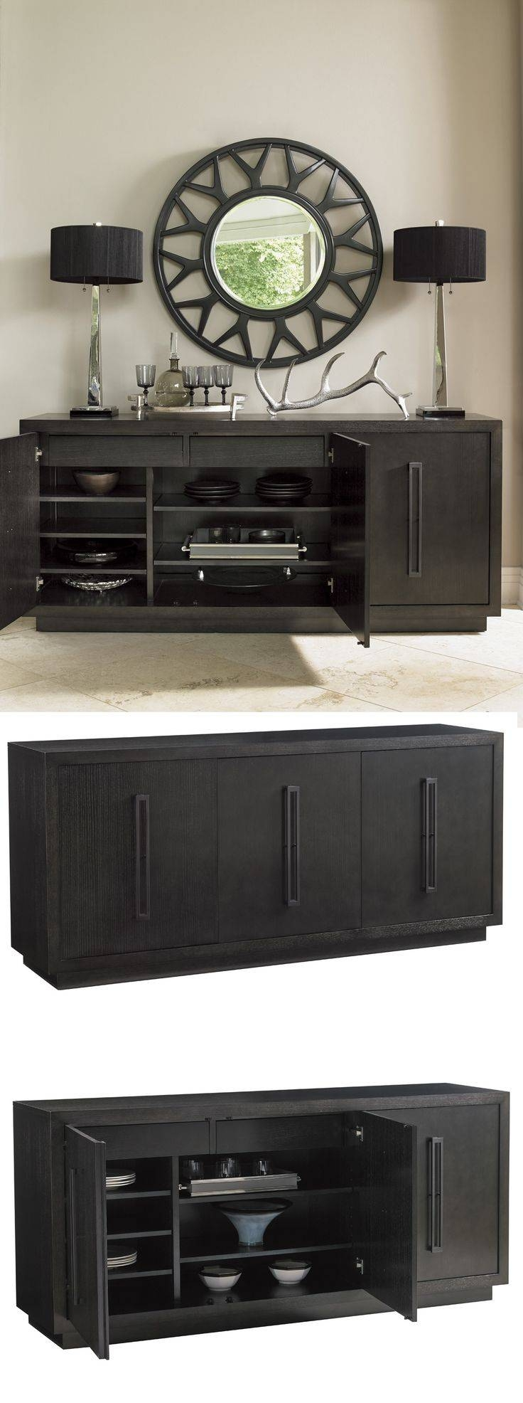 Best 25+ Buffet Server Ideas On Pinterest | Buffet Server Table Regarding Newest Black Dining Room Sideboards (#2 of 15)