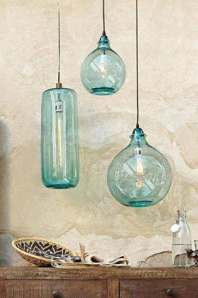 Best 25+ Glass Lights Ideas On Pinterest | Glass Pendant Lights Uk Within Best And Newest Sea Glass Pendant Lights (#4 of 15)