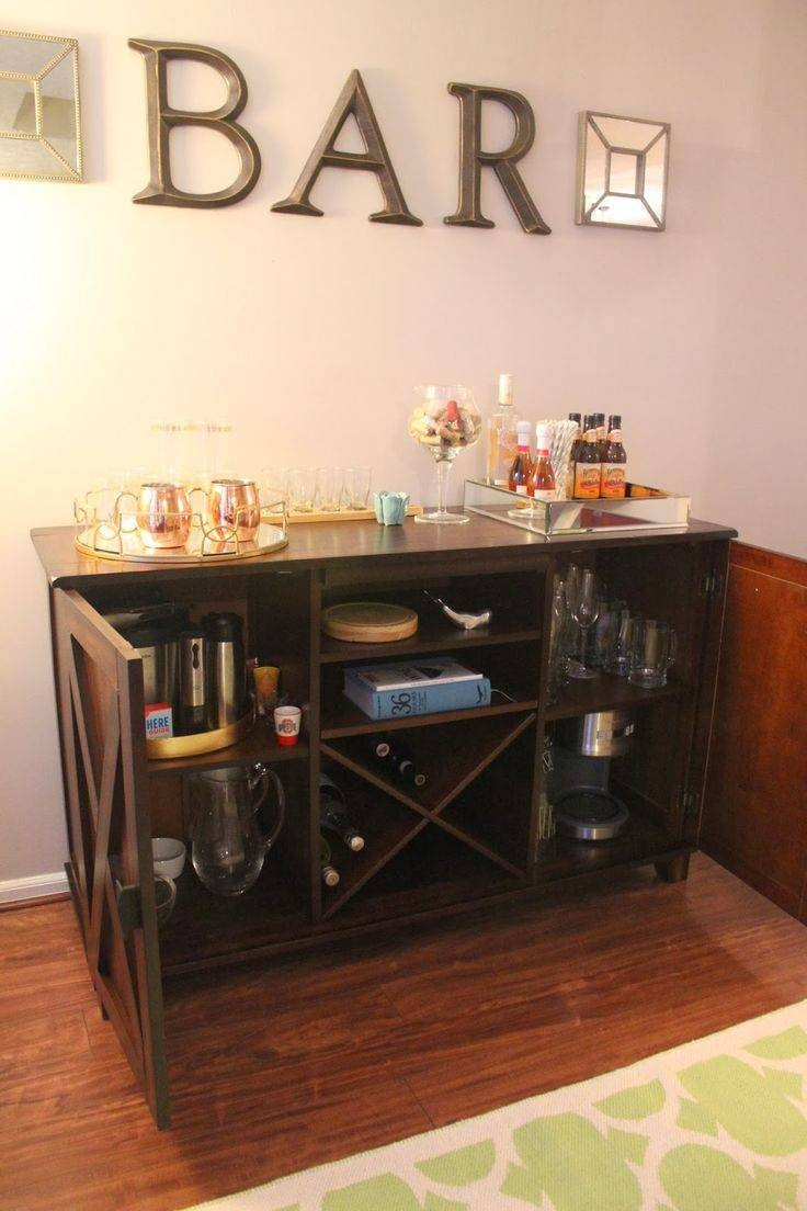 Best 25+ Liquor Cabinet Ideas On Pinterest | Green Dinning Room With Latest Sideboard Bar Cabinet (View 14 of 15)