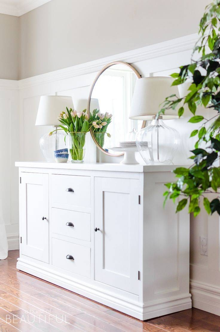 Best 25+ White Buffet Ideas On Pinterest | Dining Room Buffet Pertaining To Latest Sideboards Decors (#4 of 15)