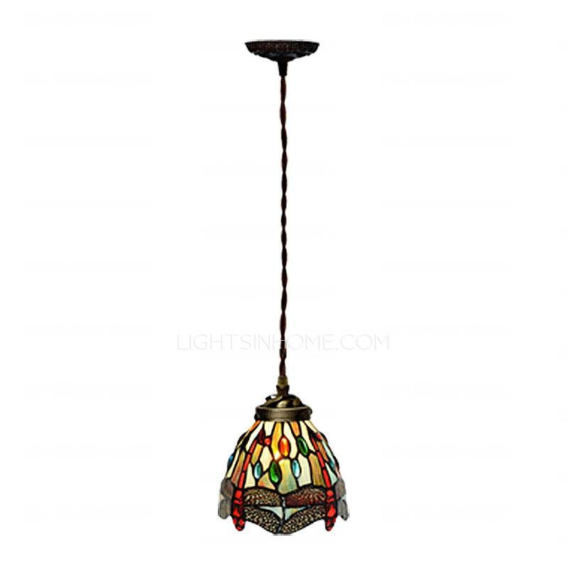 Best Dragonfly Pattern Metal Base Tiffany Style Pendant Lighting In 2017 Tiffany Style Pendant Light Fixtures (#3 of 15)