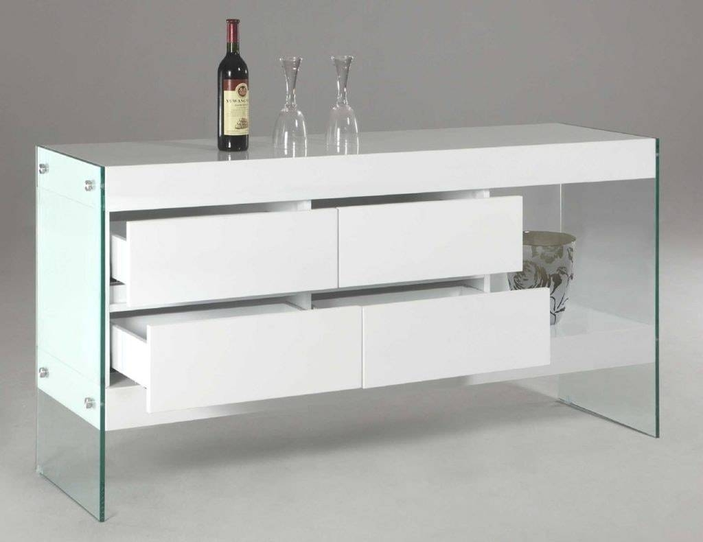 Best Of White Sideboard Table Bjdgjy Image With Awesome Glass Inside Newest Glass Buffet Table Sideboards (#1 of 15)