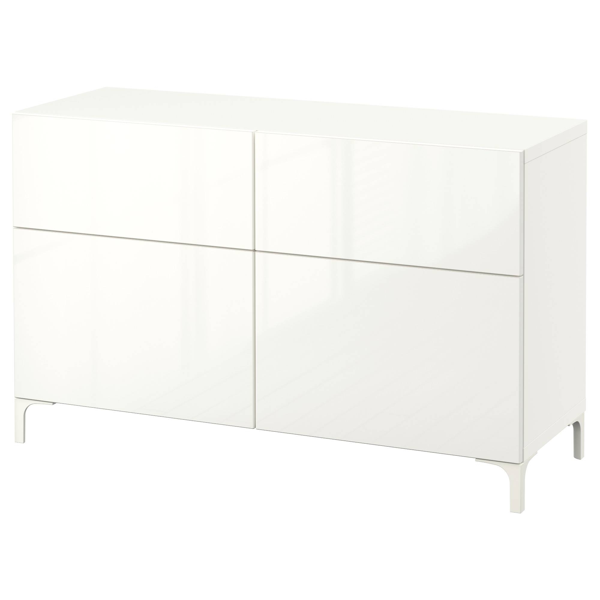Bestå Storage Combination W Doors/drawers – White/selsviken High Pertaining To 2017 White Gloss Ikea Sideboards (View 3 of 15)