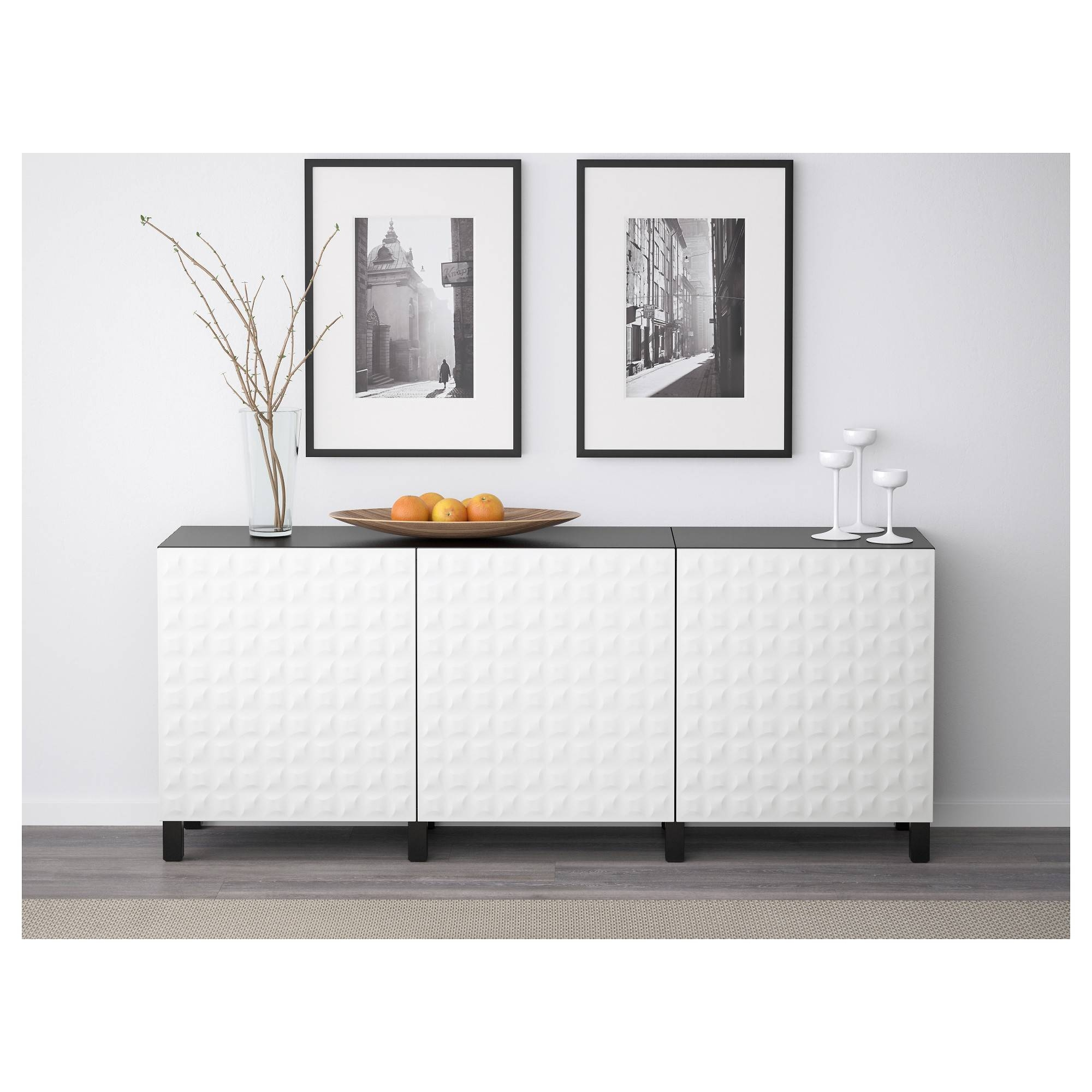 Bestå Storage Combination With Doors – White/selsviken High Gloss Within Recent Ikea Besta Sideboards (#5 of 15)