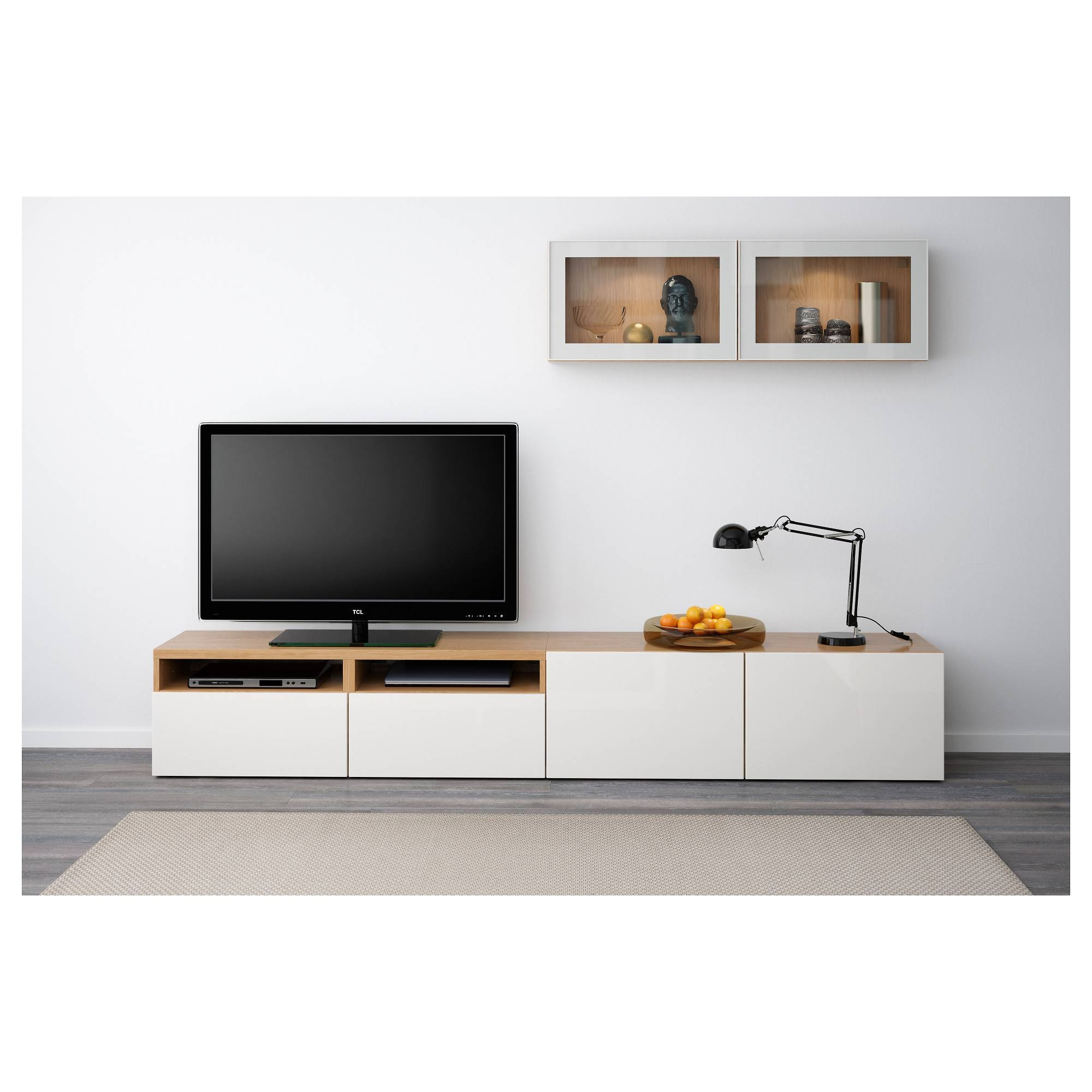 Bestå Tv Storage Combination/glass Doors Oak Effect/selsviken High Inside Most Recently Released Ikea Besta Sideboards (#6 of 15)