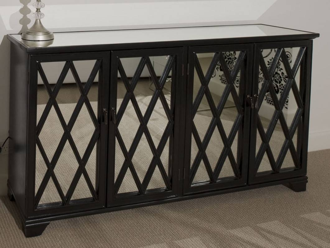 Black Antique Sideboard With Mirror — New Decoration : Antique Throughout Most Popular Mirror Sideboards (View 4 of 15)