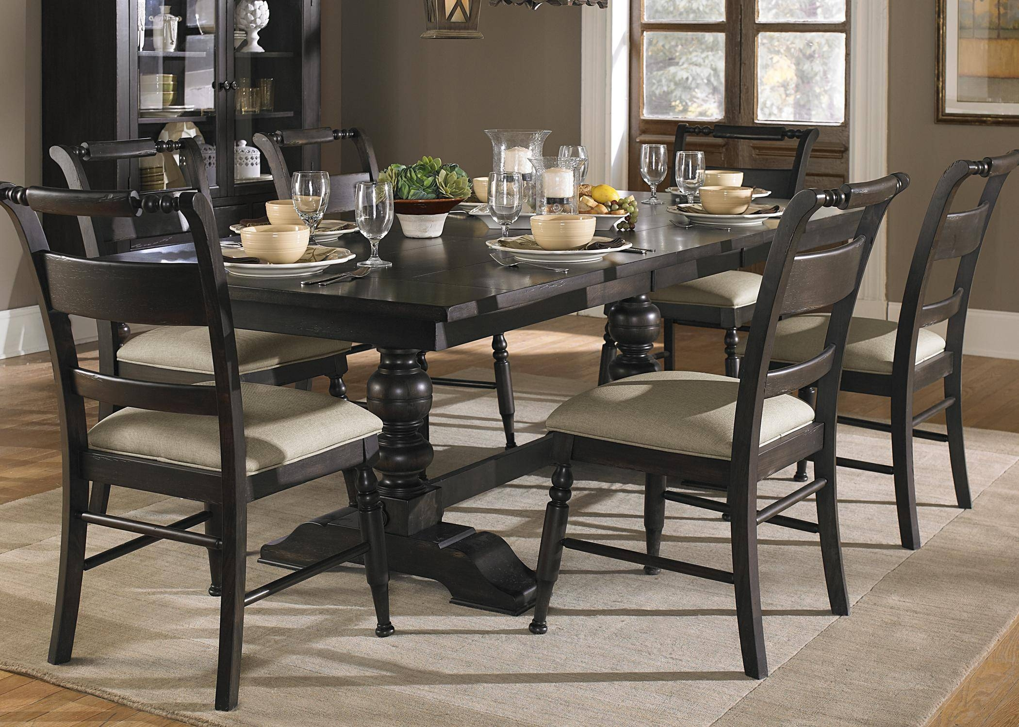 Black Dining Room Set Large Table Chair Sets Dressers Sofa Console For Recent Dining Room Table Chairs And Sideboards (#2 of 15)