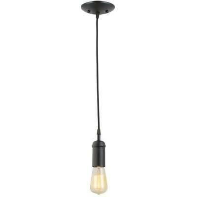 Black – Mini – Pendant Lights – Lighting – The Home Depot With Most Recent Black Mini Pendant Lights (#4 of 15)