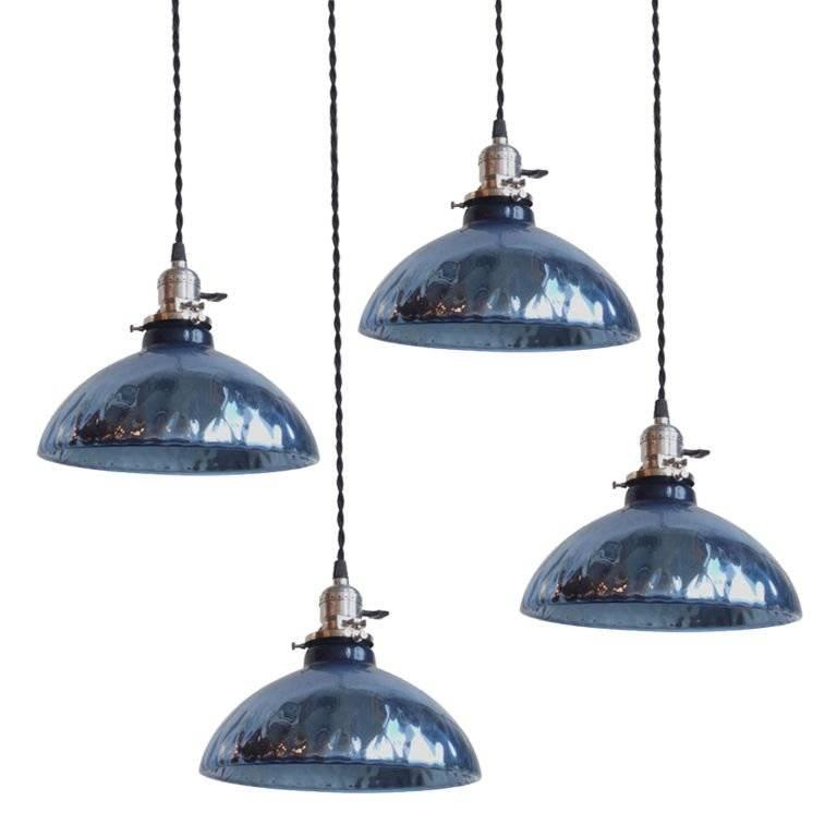 Blue Mercury Glass Pendant Lights At 1Stdibs Within Most Recent Blue Glass Pendant Lighting (#4 of 15)