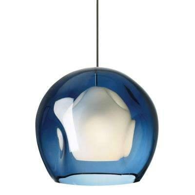 Blue – Mini – Pendant Lights – Lighting – The Home Depot With Regard To Most Current Blue Glass Pendant Lights (#2 of 15)
