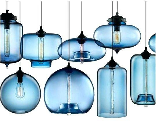 Blue Mini Pendant Lights Small Blue Glass Pendant Lights – Tmeet In 2017 Blue Glass Pendant Lights (#7 of 15)