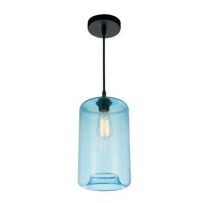 Blue – Pendant Lights – Lighting – The Home Depot Throughout 2018 Blue Pendant Lights (#4 of 15)
