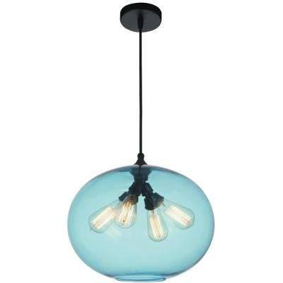 Blue – Pendant Lights – Lighting – The Home Depot With Regard To 2018 Blue Pendant Lights (#5 of 15)