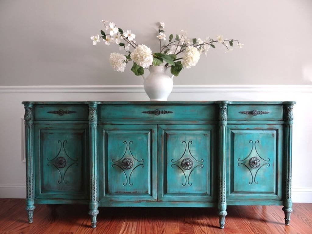 Blue Sideboard Buffet Table — New Decoration : Blue Sideboard Pertaining To Most Up To Date Blue Buffet Sideboards (#5 of 15)