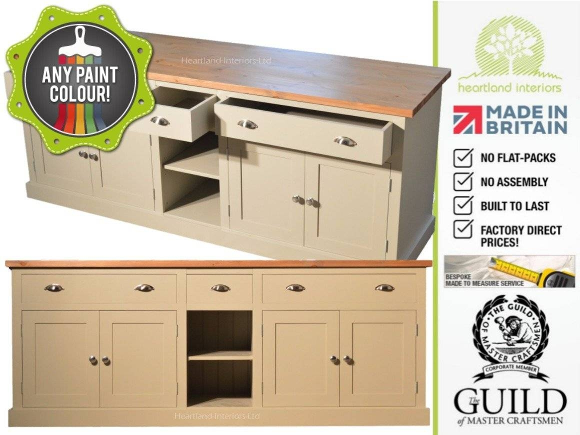 "Bordeaux F&b Painted 7Ft Wide ""extra Deep"" Sideboard With Drawers Inside 2017 Extra Deep Sideboards (#4 of 15)"