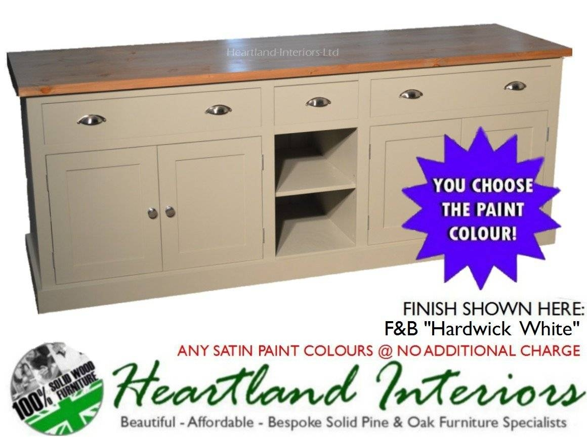 "Bordeaux F&b Painted 7Ft Wide ""extra Deep"" Sideboard With Drawers Inside Most Recently Released Extra Deep Sideboards (#5 of 15)"