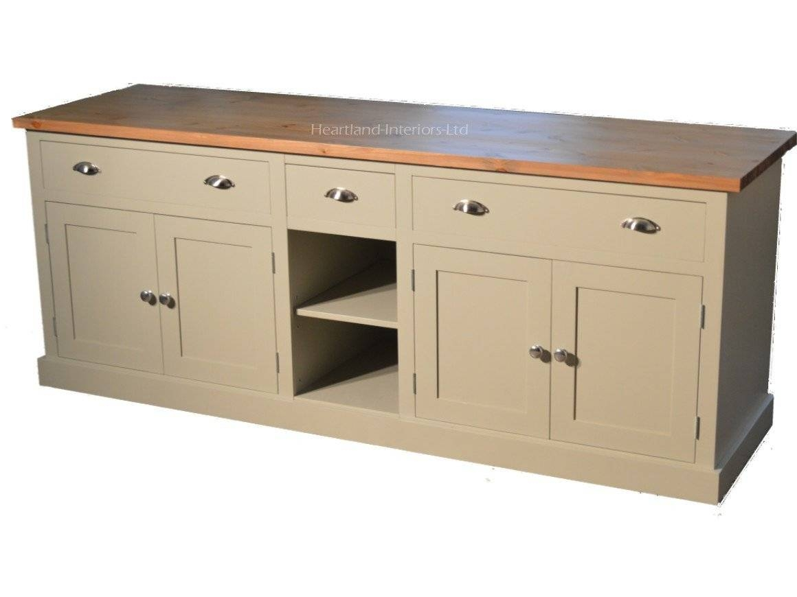 "Bordeaux F&b Painted 7Ft Wide ""extra Deep"" Sideboard With Drawers Throughout Most Recently Released Extra Deep Sideboards (#6 of 15)"