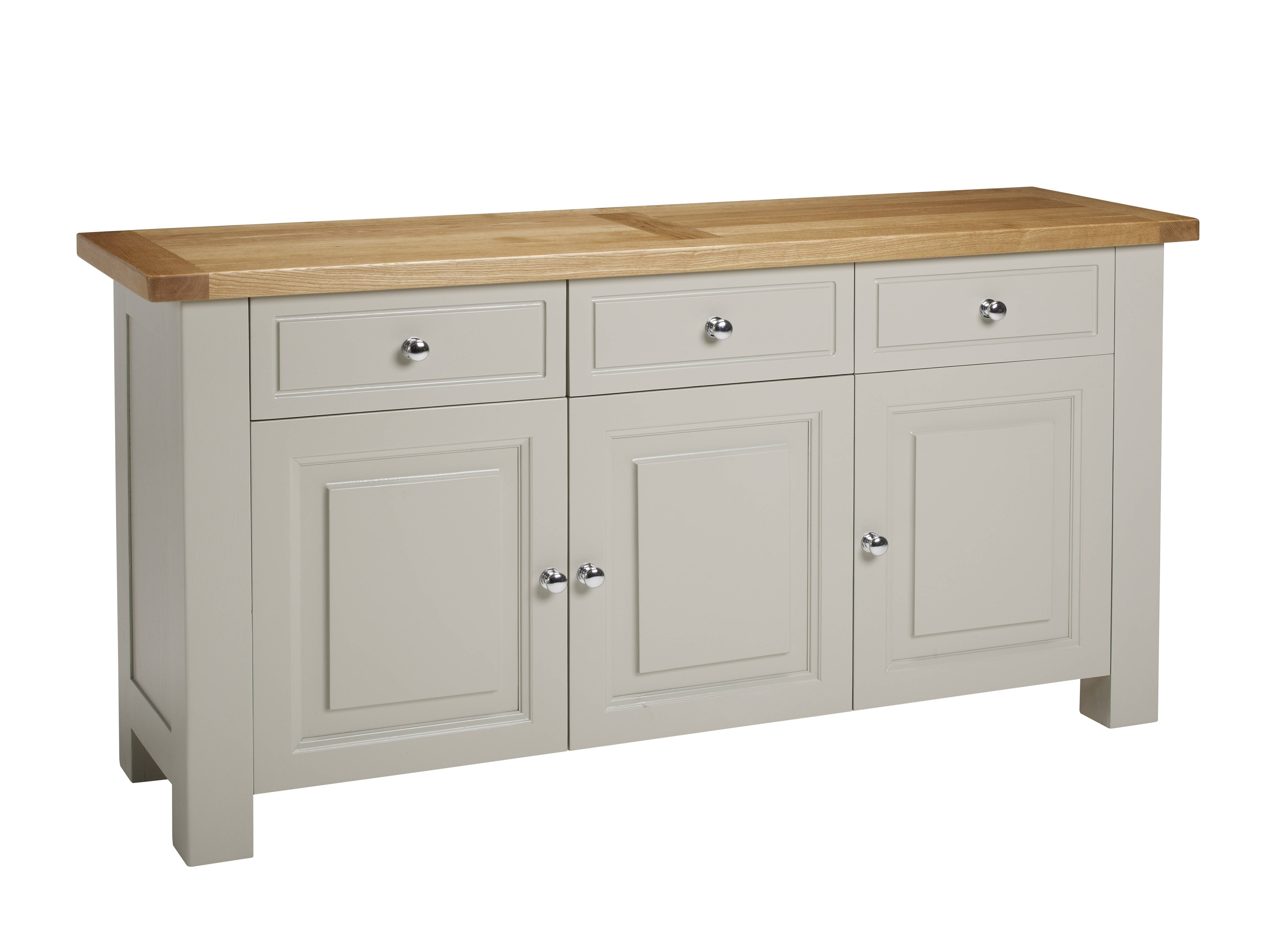 Bretagne Oak Large Sideboard Furniture Yourhome Store – Lentine Throughout Most Recently Released Large Oak Sideboard (View 11 of 15)