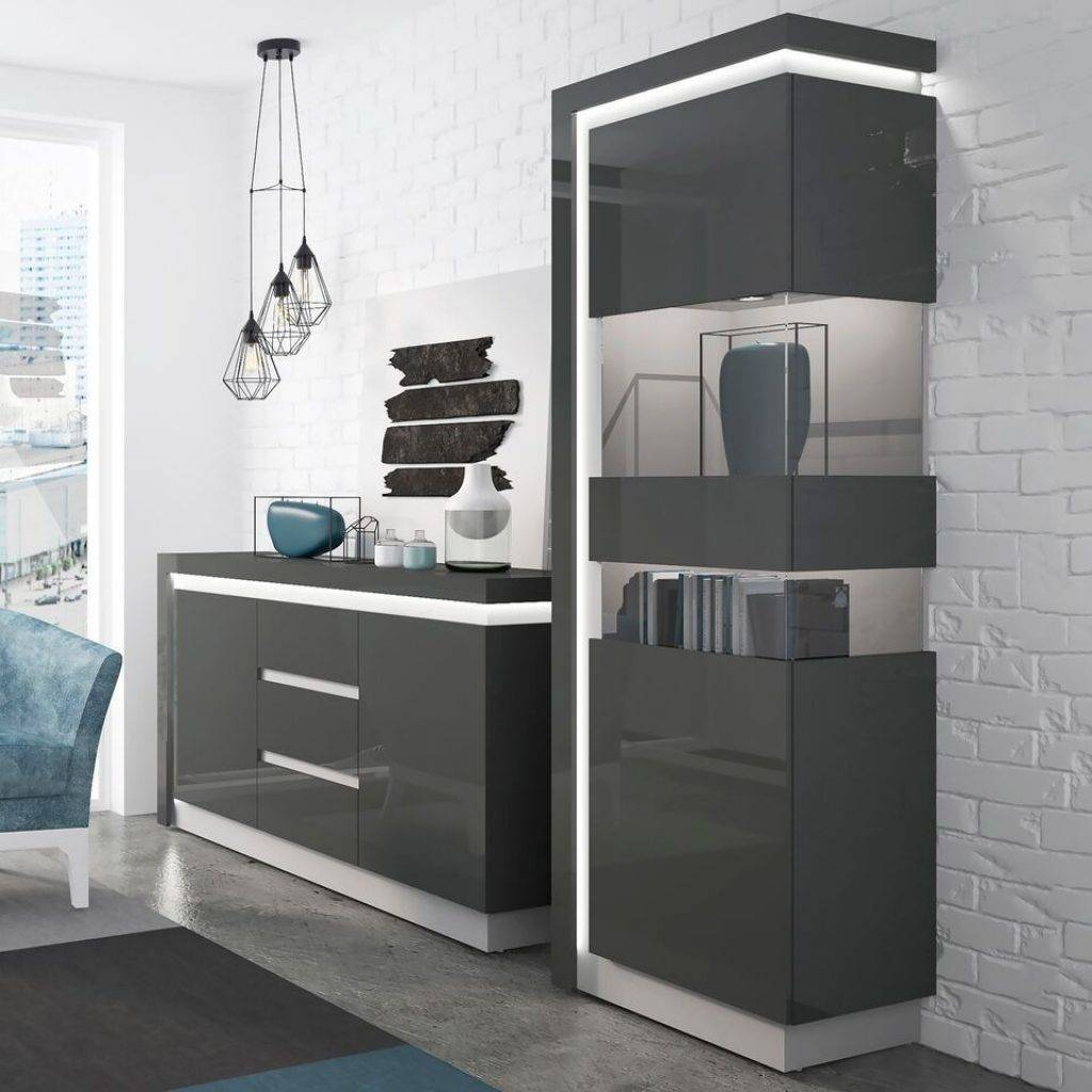 Brilliant Grey Gloss Sideboard – Buildsimplehome With Current High Gloss Grey Sideboards (View 13 of 15)