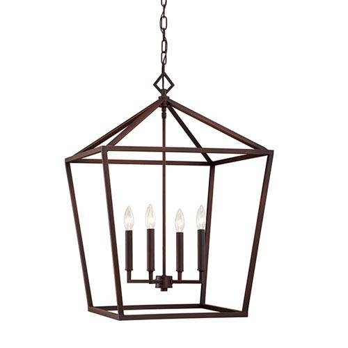 Bronze Oil Rubbed Pendant Lighting | Bellacor Throughout Current Bronze Cage Pendant Lights (#3 of 15)