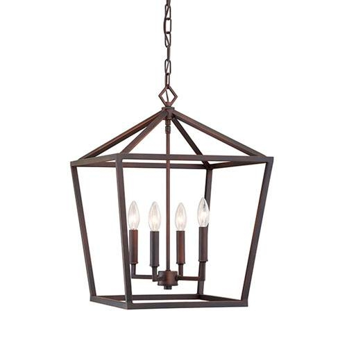 Bronze Pendant Lighting – Jeffreypeak Pertaining To Best And Newest Bronze Cage Pendant Lights (#4 of 15)