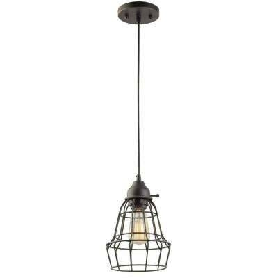 Bronze – Pendant Lights – Lighting – The Home Depot With Regard To Recent Bronze Cage Pendant Lights (#2 of 15)
