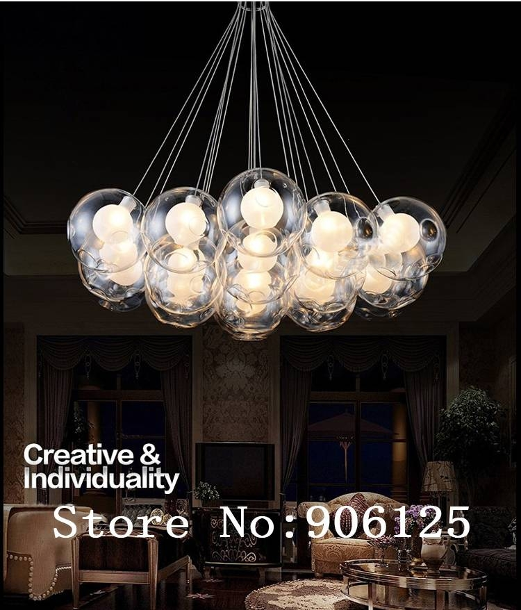 Bubble Light Chandelier Home Premade Lights Statement Lighting With Regard To Latest Bubble Pendant Light Fixtures (#3 of 15)