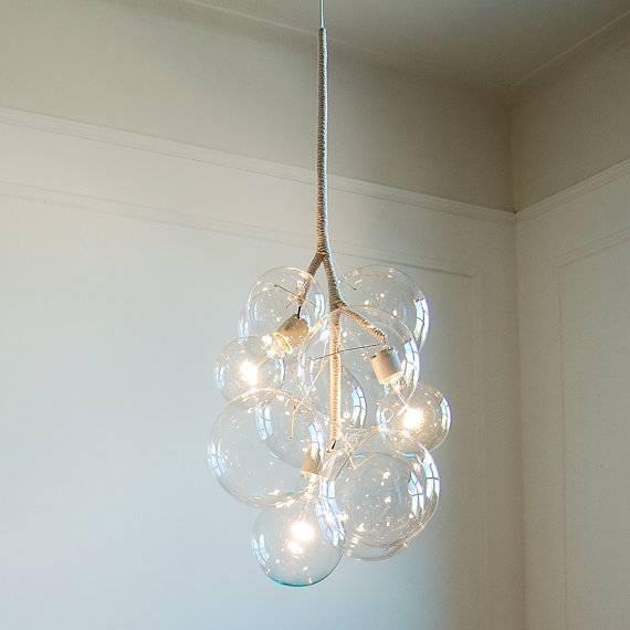 Bubble Pendant Light Chandelier Regarding Amazing Home Decor Throughout Newest Glass Bubble Pendant Lights (#1 of 15)