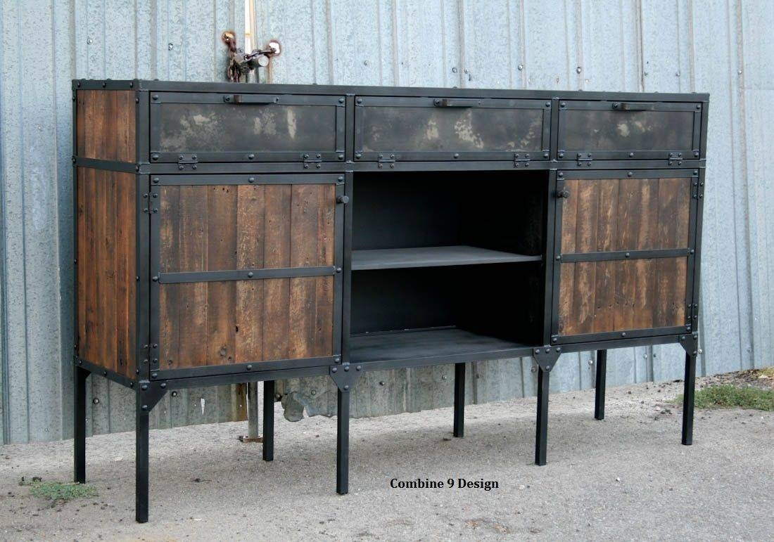 Buy A Custom Buffet/hutch – Vintage Industrial/mid Century Modern Pertaining To Best And Newest Industrial Sideboards (View 4 of 15)