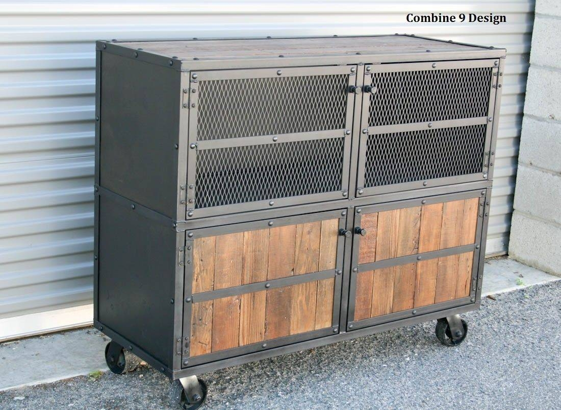 Buy A Hand Made Vintage Industrial Bar Cart. Mid Century (View 11 of 15)