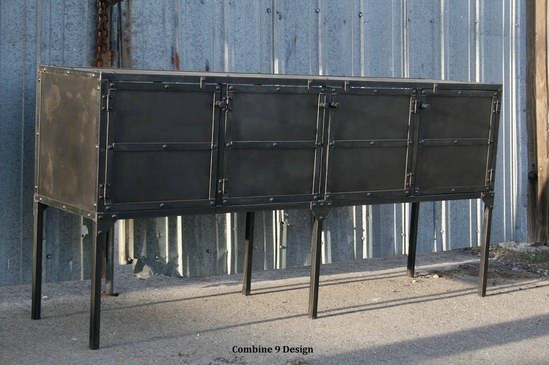 Buy Custom Buffet/hutch, Modern Industrial, Mid Century, Sideboard Throughout 2018 Industrial Sideboards (#5 of 15)