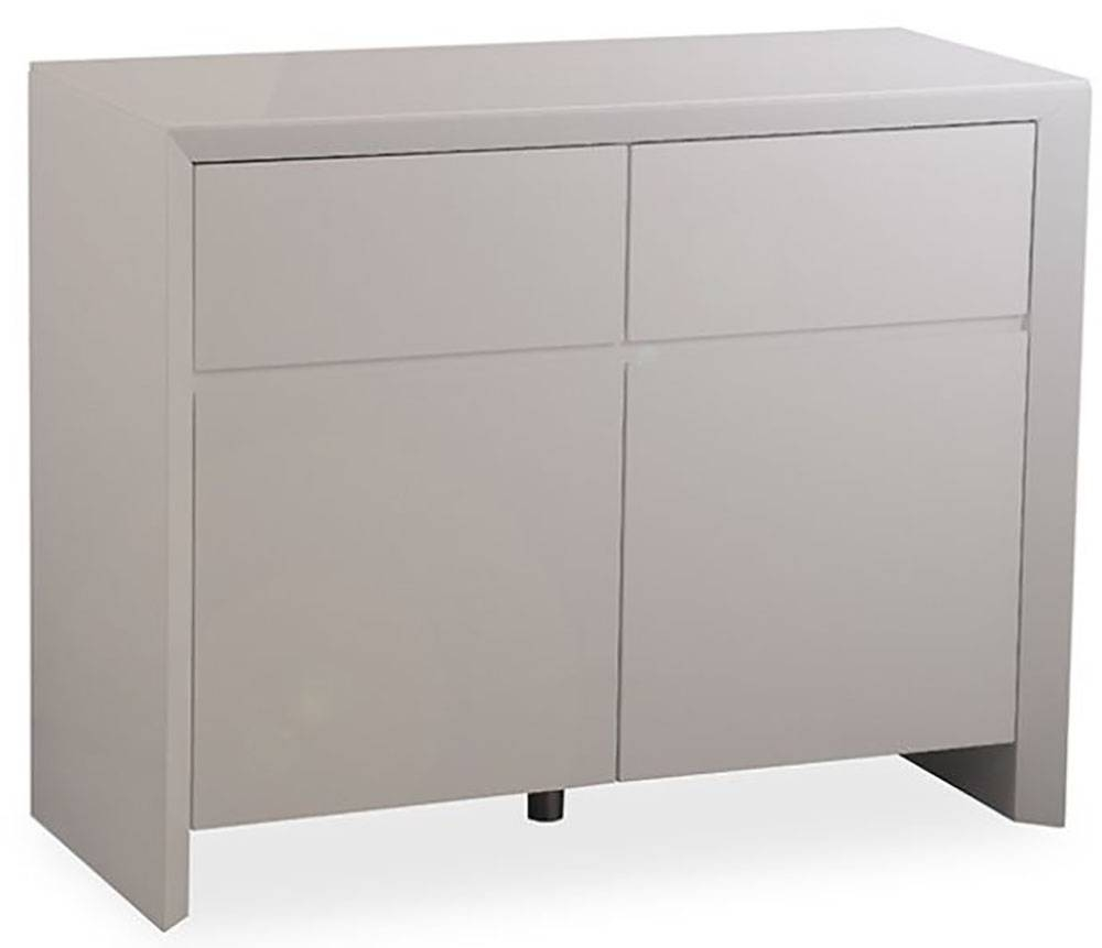 Buy Zeus Grey High Gloss Small Sideboard Online – Cfs Uk Inside Newest High Gloss Grey Sideboards (View 5 of 15)
