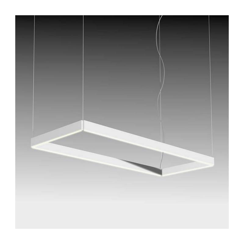 By Fm Manolo Rectangular Pendant Lamp Led White With Regard To Most Recent Rectangular Pendant Lights (#6 of 15)