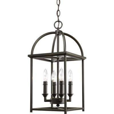 Cage – Pendant Lights – Lighting – The Home Depot Pertaining To Current Bronze Cage Pendant Lights (#5 of 15)