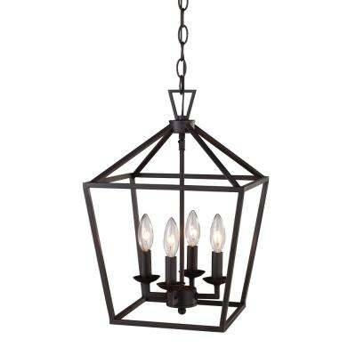 Cage – Pendant Lights – Lighting – The Home Depot Throughout Most Current Bronze Cage Pendant Lights (#6 of 15)