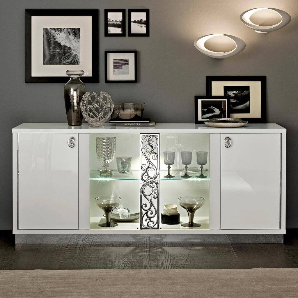 Popular Photo of White Sideboards With Glass Doors