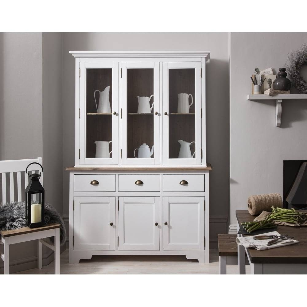 Canterbury Dresser And Sideboard With Glass Doors | Noa & Nani Inside Most Popular White Sideboards With Glass Doors (#2 of 15)