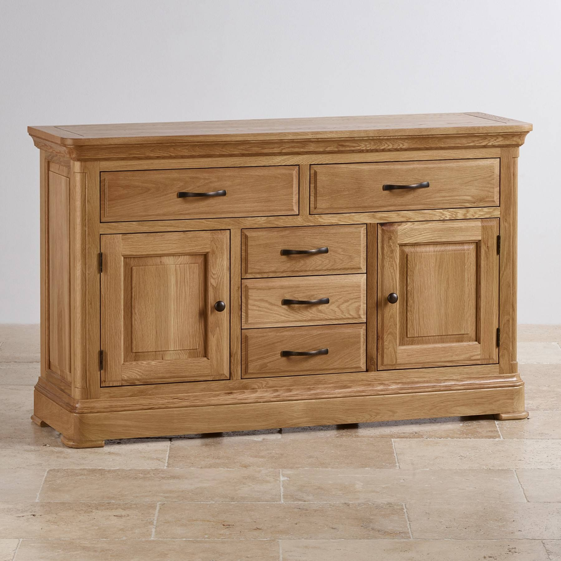 Canterbury Natural Solid Oak Large Sideboard | Sideboards | Dining With Regard To Best And Newest Oak Furniture Land Sideboards (View 7 of 15)